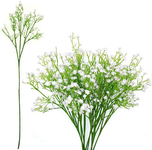 JZK 9 x Stems 27 branches of white baby's breath artificial flowers fake gypsophila flower bouquets wedding decorations table centerpiece decor