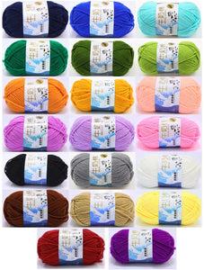 JZK 20 Multicolour 50g Super Soft Milk Cotton Wool Yarn for Knitting Crochet Baby Garments hat Shoes Socks Scarf Toy Making
