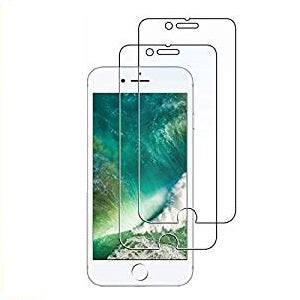 Screen Protector for Apple iPhone 8 and iPhone 7, Case Friendly, Tempered Glass Film, 2-Pack (Clear)