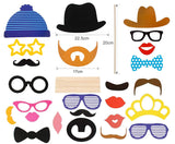 25 x Party photo booth props with large frame Mustache Bow Lips Hat