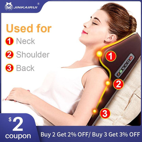 Image of Back Waist Body Electric Multifunctional Massage Pillow