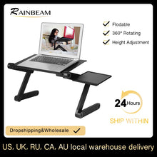 Image of Adjustable ergonomic portable aluminum laptop desk