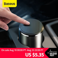 Image of Baseus Alloy Car Trash Can Auto Organizer Storage Bag Car Garbage Bin Ashtray Dust Case Holder Auto Accessories