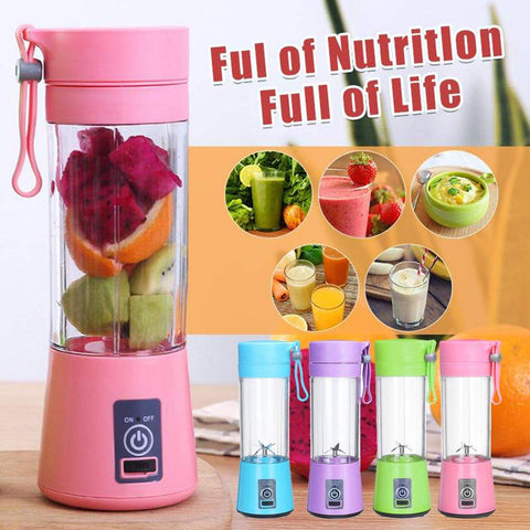 Image of WXB portable blender usb mixer electric juicer machine smoothie blender mini food processor personal blender cup juice blenders