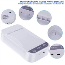 Image of Portable UV Phone Sterilizer Box Sterilizer Cellphone Toothbrush Sanitizer Disinfection Box with USB Cable Dual UV Lights