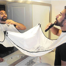 Image of Pongee Men's Beard Care Shave Apron Bib Shaving Cloth Trimmer Facial Hair Cut Cape Sink Waterproof Floral Cloth