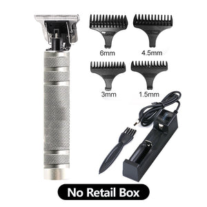 New Professional Barber Men Electric Beard Trimmer & Hair Clipper Machine