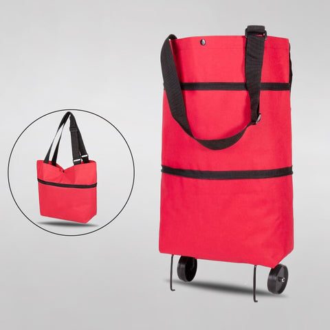 Image of Foldable Shopping Trolley Tote Bag