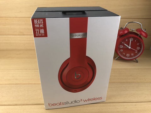 Beats by Dre Studio3 Wireless Over-Ear Headphones - Red Premium