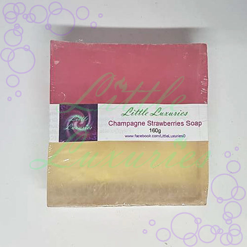 Champagne & Strawberries Soap - Little Luxuries (Vic)