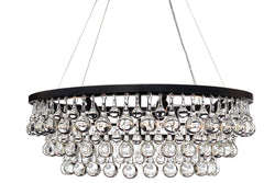 Celeste Glass Drop Crystal Chandelier, Black, Wires Small