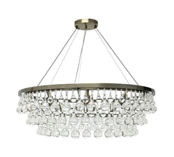 Celeste 10 Light Chandelier, Antique Brass finish,  with Wires