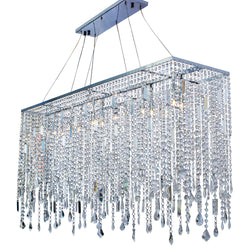 Naples 48 Inch Chrome Rectangular Chandelier