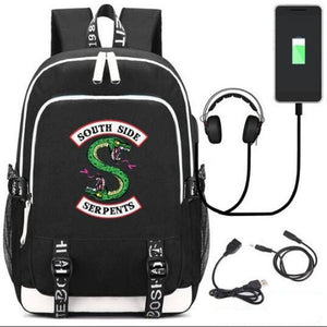 cb811cc95f New Riverdale Southside Serpents Backpacks With USB Charging Port ...