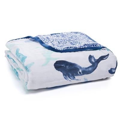 Seafaring Whale Dream Blanket