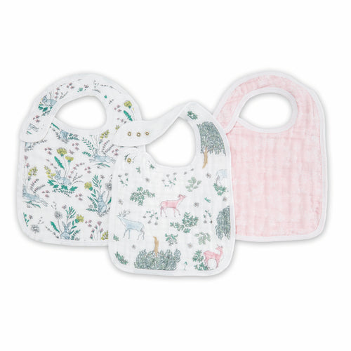 3 Pack Snap Bib