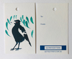 Magpie gift tag