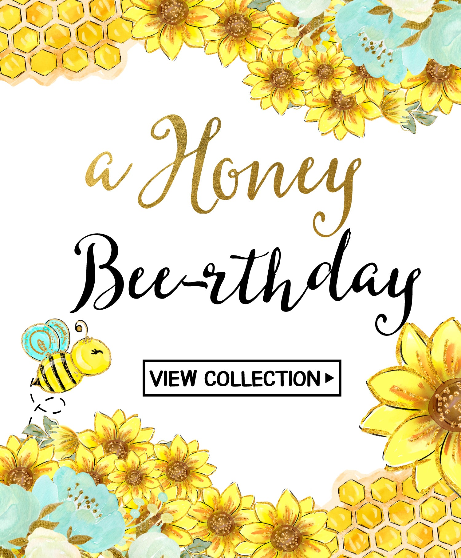 Honey Bees Birthday - Teal