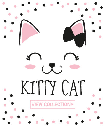 Kitty Cat Pink Black