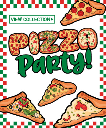Pizza Birthday Party<br> Invitations