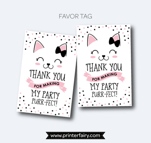 Kitty Cat Favor Tags