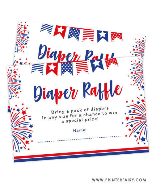 4th July Baby Shower Diaper Raffle