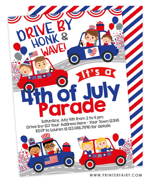 4th of July Parade Invitation