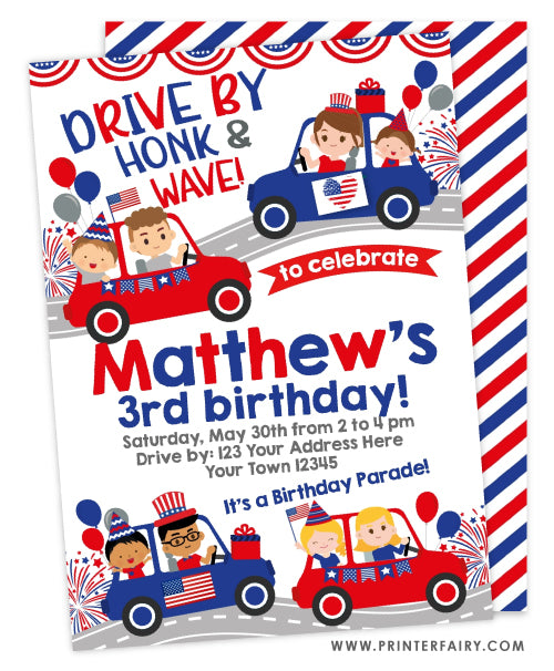 4th of July Parade Party Invitation