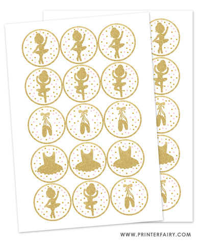 Ballerina Printable Toppers