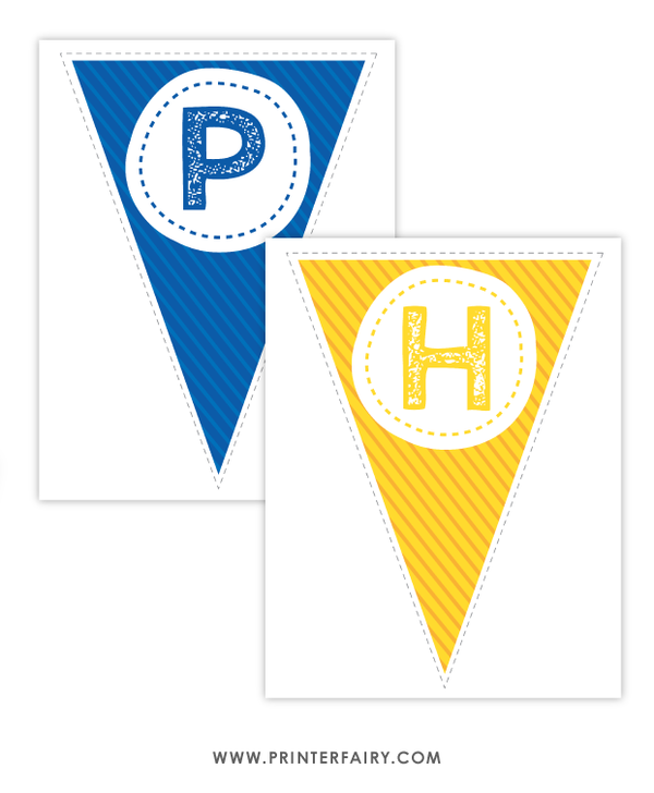 Police Printable Birthday Banner