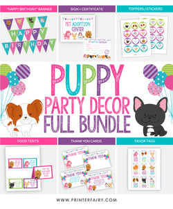Puppy Party Decoration Full Pack