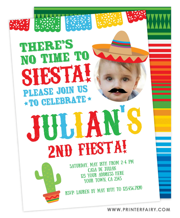 Fiesta Invitation with Photo