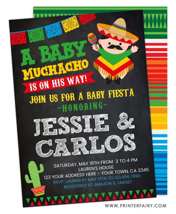 Baby Fiesta Invitation