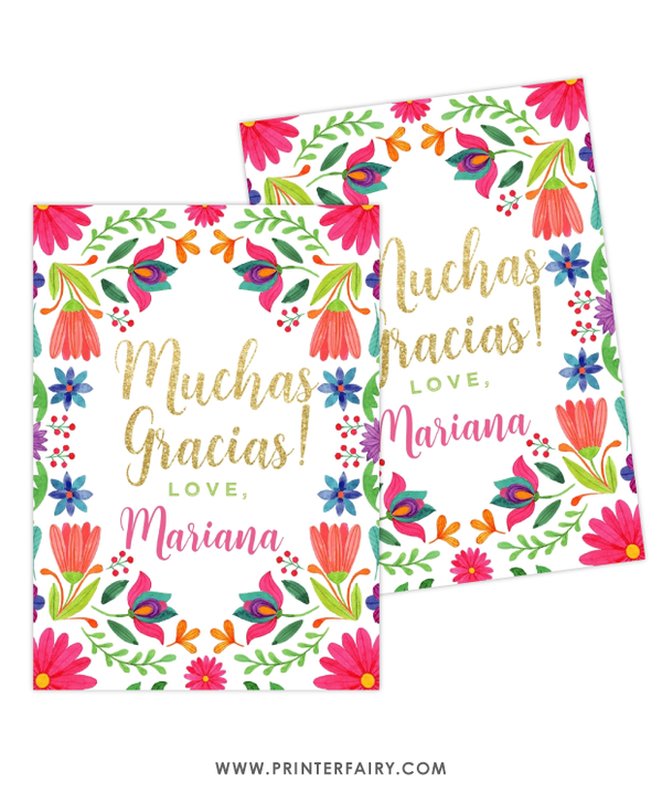 Fiesta Floral Favor Tag