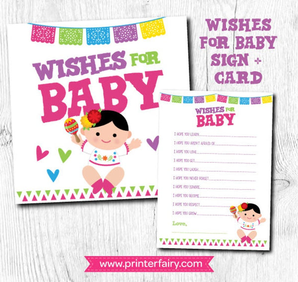 Fiesta Baby Shower Wishes For Baby