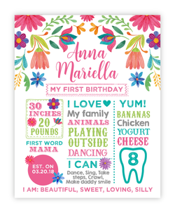 Fiesta Floral Birthday Board