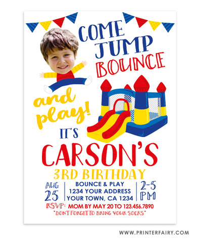 Jump Birthday Invitation with Photo