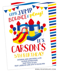 Jump Party Birthday Invitation