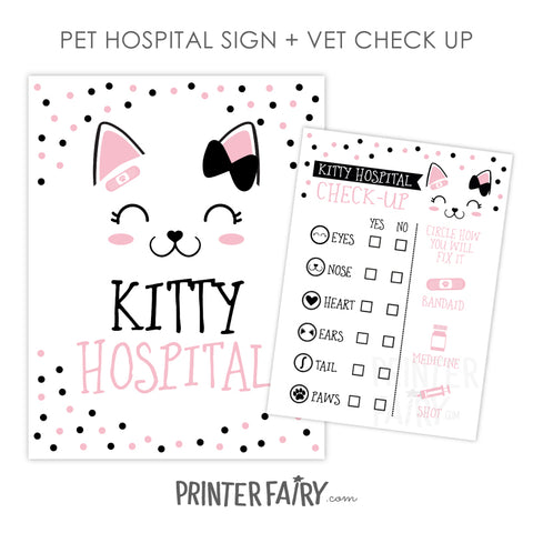 Kitty Cat Hospital Set