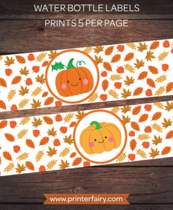 Little Pumpkin Bottle Labels