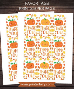 Little Pumpkin Favor Tags