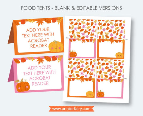 Little Pumpkin Food Tents