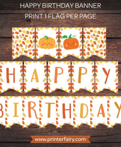 Little Pumpkin Happy Birthday Banner