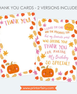 Little Pumpkin Thank You Cards
