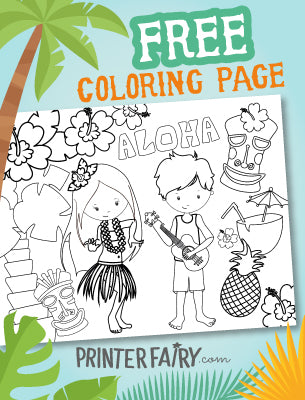 Luau Coloring Page