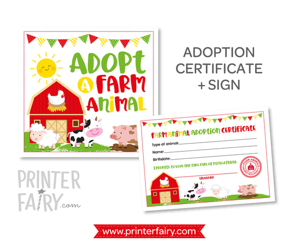 Farm Animal Adoption Set