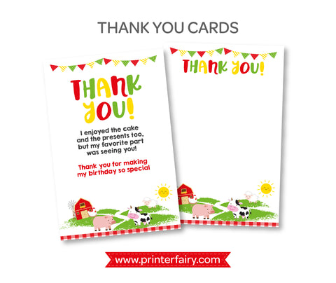 Farm Thank You Cards