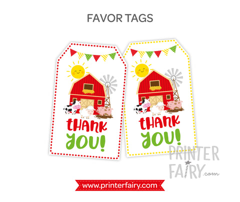 Farm Favor Tags