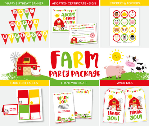 Farm Party Pack