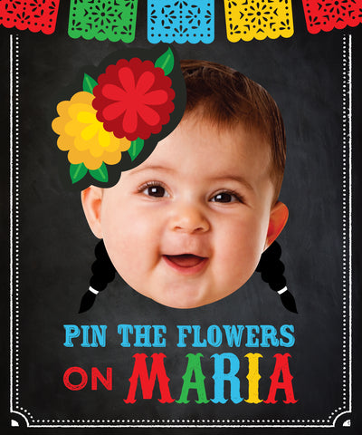 Fiesta Pin the Flower Game